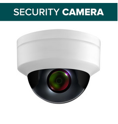 ceiling video surveillance security camera vector image