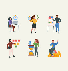 checklist characters business concept pictures vector image