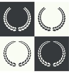 Circular laurel wreath vector