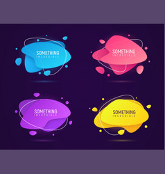 collection of abstract liquid style glowing trendy vector image