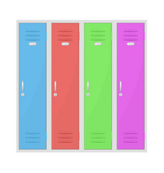 colored lockers vector image