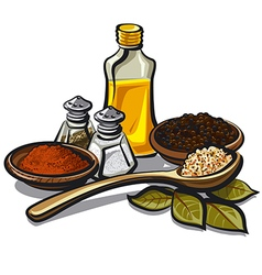 Condiments and flavoring vector