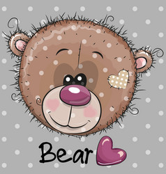 Cute cartoon teddy bear head vector