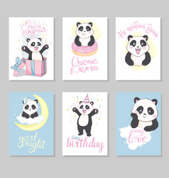 cute hand drawn cards brochures invitations vector image