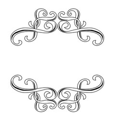 Decorative swirl border ornament vector