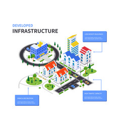 Developed infrastructure - modern colorful vector