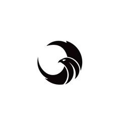 eagle bird logo vector image