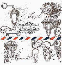 Elegant menu design for cafe or invitation vector