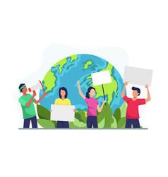 Environmental activists vector