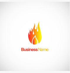 fire abstract flame company logo vector image