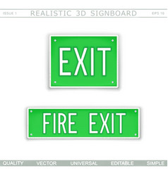 fire exit information signboard vector image