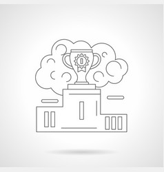 first place cup detailed line vector image