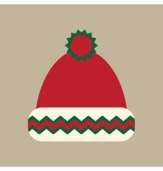 Flat icon on stylish background winter hat vector