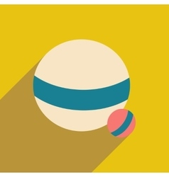 Flat with shadow icon and mobile application ball vector