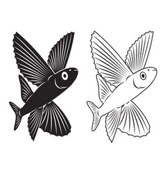 flying fish vector image