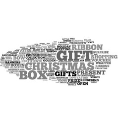 Gifts word cloud concept vector