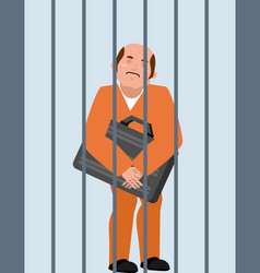 grafter in prison bribe taker is arrested boss is vector image