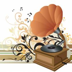 gramophone illustration vector image