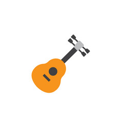 guitar flat icon symbol premium quality isolated vector image
