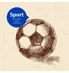Hand drawn sport object Sketch football vector