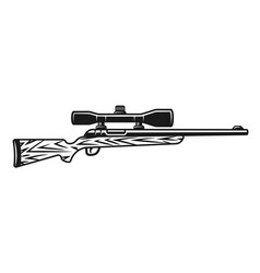 Hunting rifle with optic sight object vector