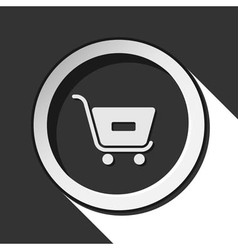 Icon - shopping cart minus with shadow vector