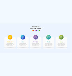 Infographic design with icons and 5 options or vector