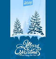 invitation card merry christmas vector image
