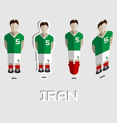 Iran soccer team sportswear template vector