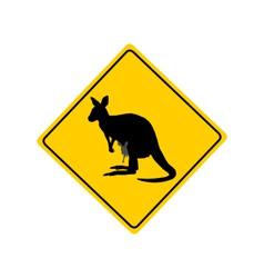 Kangaroo warning sign vector