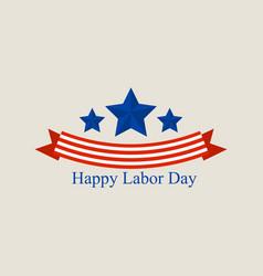 Labor day logo flat style vector