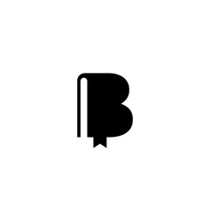 Letter b book graphic design template isolated vector