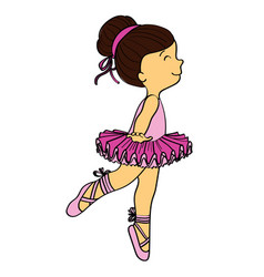 Little girl ballerina vector