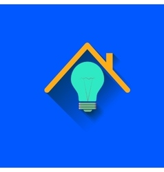 Logo of the House Electricity in the home vector image
