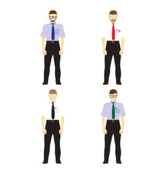 Male figures avatars Business people avatars Icons vector image