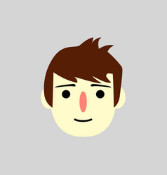 man face - flat design - vector image