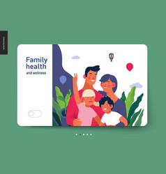 medical insurance template - family health and vector image