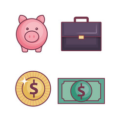 Money-related objects design vector