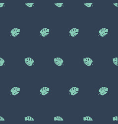 monstera seamless pattern boy green grey vector image