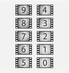 Movie countdown set vector