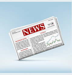 newspaper with financial and economic news vector image