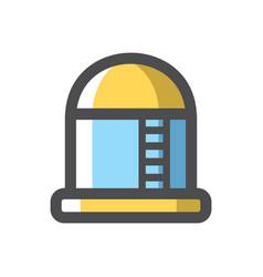 Oil storage fuel steel tank icon cartoon vector