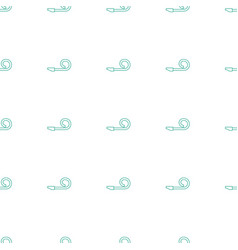 Party pipe icon pattern seamless white background vector
