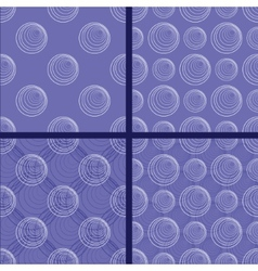 patterns with circles vector image