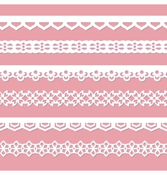 pink background with laces vector image