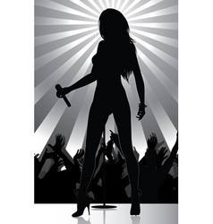 pop singer vector image