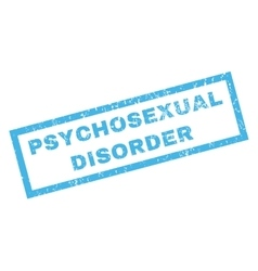 Psychosexual Disorder Rubber Stamp vector