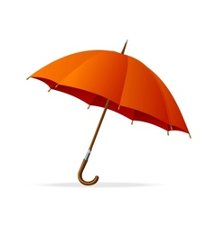 Red umbrella isolated vector