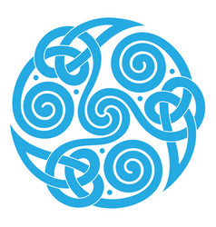 round celtic scandinavian design celtic pattern vector image