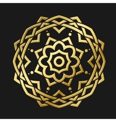 Round Gold Ornament vector image